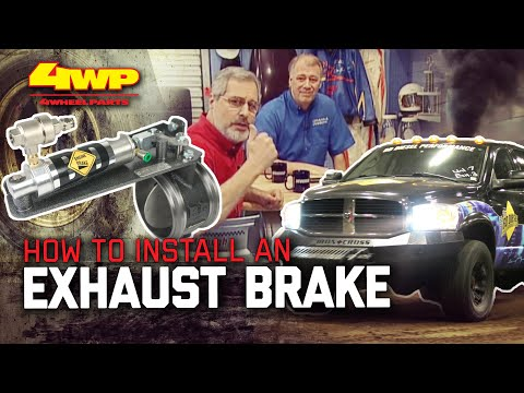 how to install an exhaust brake on a diesel pickup with bd diesel - youtube