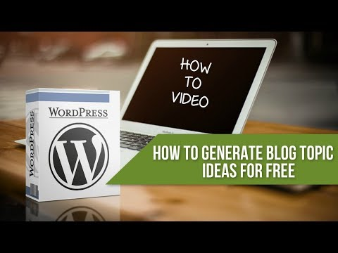How to Generate Unlimited Blog post, Articles and Content Marketing Ideas for FREE