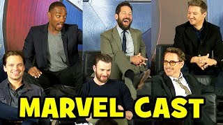 MARVEL CAST Interviews at CAPTAIN AMERICA Civil War Press Conference