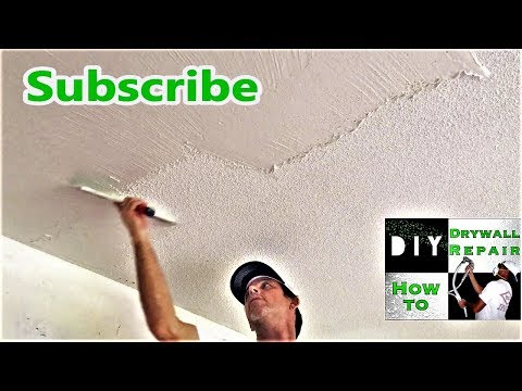 Can I skim coat over my painted popcorn ceiling?  DIY