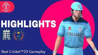 Match 24 - England Vs Afghanistan Highlights   ICC World Cup 2019   Real Cricket™20 Gameplay
