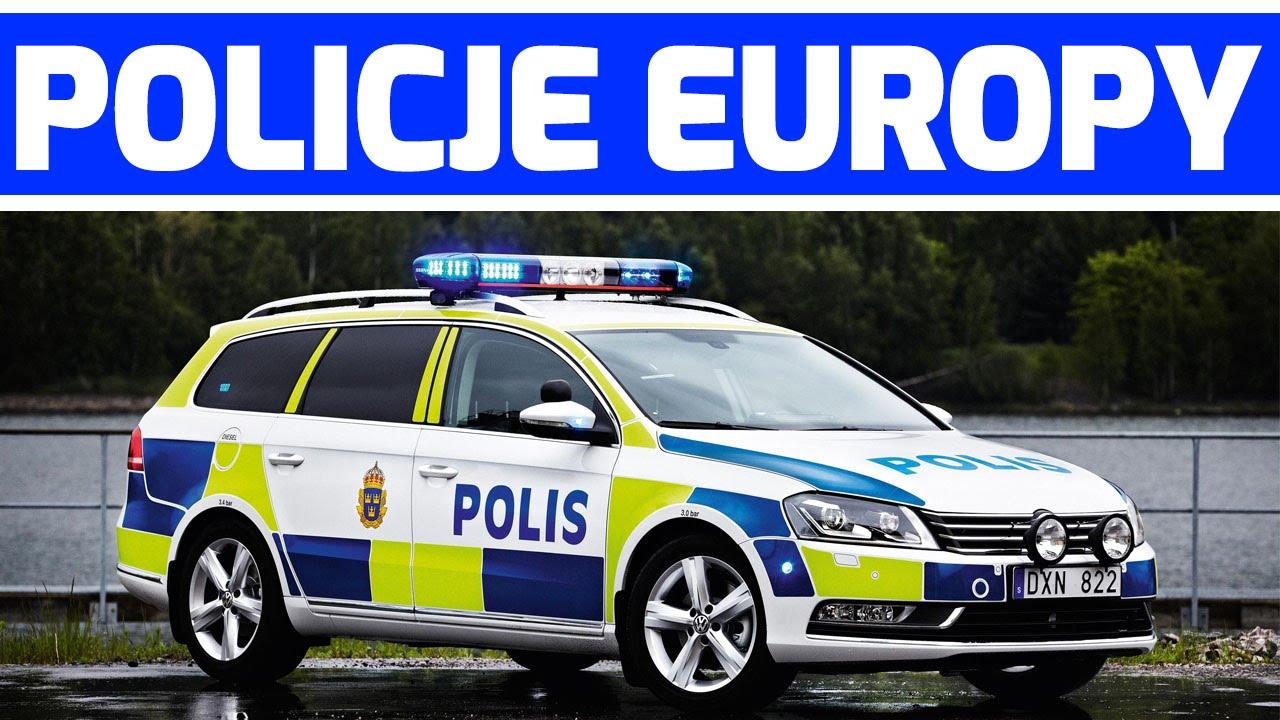 Europejska Policja na sygnale. Nauka państw i flag. Super Radiowozy!