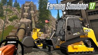 Farming Simulator 17 - Forestry JCB 325T & STIHL MS261 Chainsaw (JCB Stump Remover)
