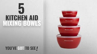 Best Kitchen Aid Mixing Bowls [2018]: KitchenAid Prep Bowls with Lids, Set of 4, Red