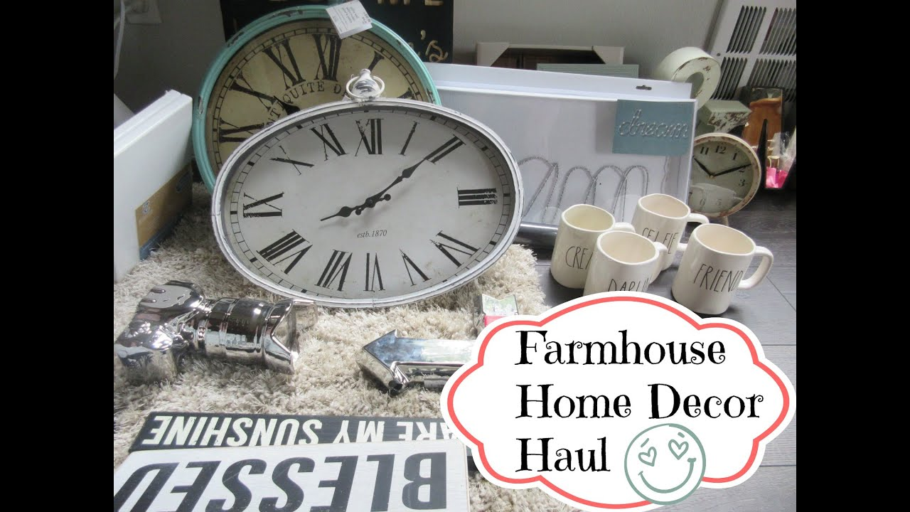 farmhouse home decor haul asimplysimplelife   youtube