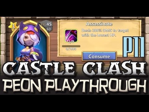 Castle Clash Peon 11: Arena + Might - Peon Playthrough 11