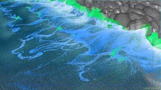 RealFlow Sea Shore Breaking Waves