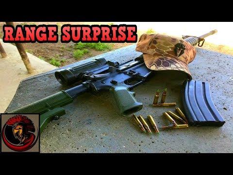Rifle Range Surprise!! PEW PEW!