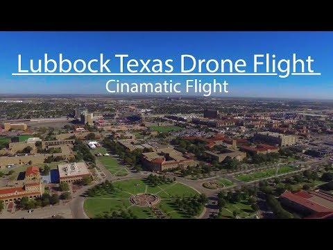 Lubbock TX TexasTech Drone flight