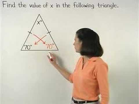 The Isosceles Triangle Theorem Yourteacher Com Math Help Youtube