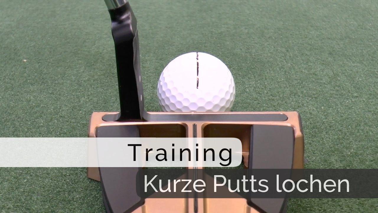 Putt-Training mit Bernd Ritthammer: Kurze Putts sicher lochen - YouTube