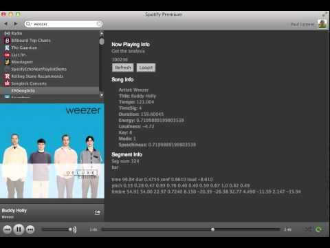 Echo Nest // Spotify Sync Test