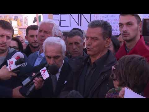 Protesta ne Shkup kunder dënimit të grupit të Kumanovës