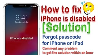 How to disable Iphone unlock/Remove/Restore and Reset  4,4s,5,5c,5s,5se,6,6plus,6s,7,7+,8,8+,X,Max