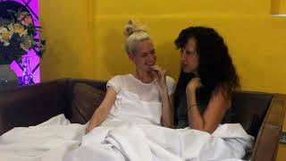 In Bed with Poppy Delevingne and Pat Cleveland