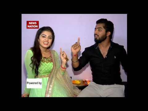 Actress Survi's Raksha Bandhan celebration on the set of News Nation