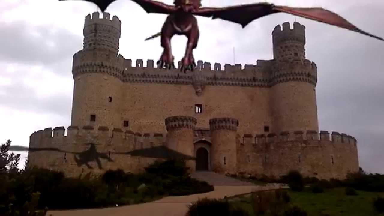 Dragones en Manzanares El Real con Free Green Screen - YouTube
