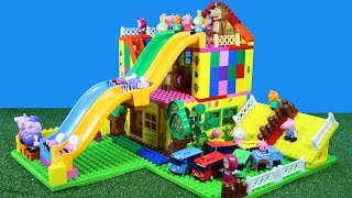 Peppa Pig House Construction Set With Water Slide LEGO Creations Toys for Kids #3