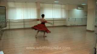 Indian ballerina doing a Russian number