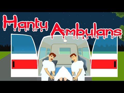 Hantu ambulans - kartun horor - kartun lucu