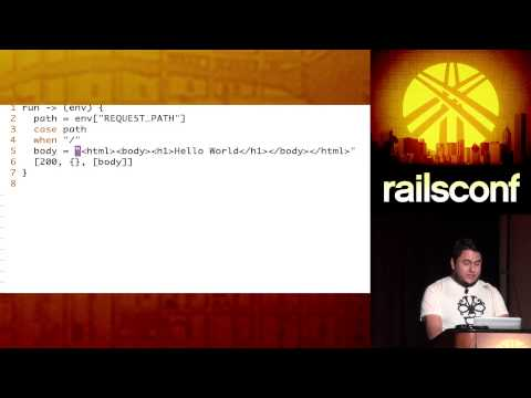 RailsConf 2014 - Web Applications with Ruby (not Rails) by David Padilla
