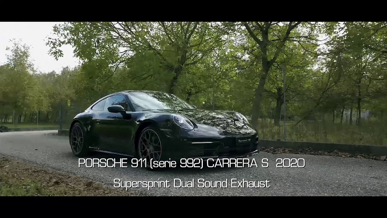 Supersprint exhaust for PORSCHE 992 Carrera S (3.0L - 450 Hp - models with GPF) 2019 - (with valve)