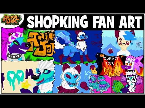 MORE SHOPKING FAN ART + LOOKING AT STAR ART FOR CONTEST   ANIMAL JAM