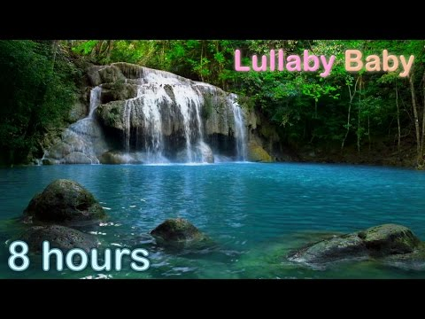☆ 8 HOURS ☆ WATERFALL MUSIC ♫ ☆ Relaxing Music and WATERFALL sounds for sleep ♫ Baby Sleep Music