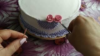 Украшение торта БЗКкремом Cake decoration