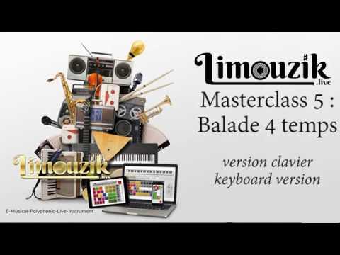 Masterclass 5 : balade 4 temps (version clavier / keyboard)