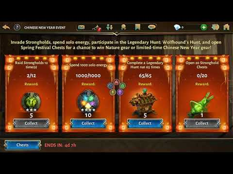 CHINESE NEW YEAR REWARD CHALLENGE CHEST OPENING SPRING FESTIVAL ! Dungeon Hunter 5