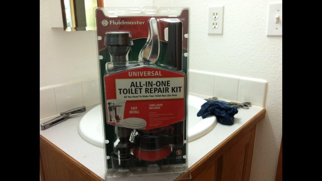 Installation tutorial for fluidmaster toilet rebuild kit - YouTube