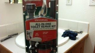 Installation tutorial for fluidmaster toilet rebuild kit