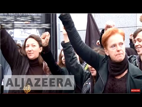 Women are protesting for abortion rights in Poland