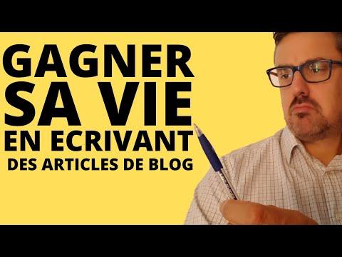 Ecrire des articles de blog pour 3000 euros par mois