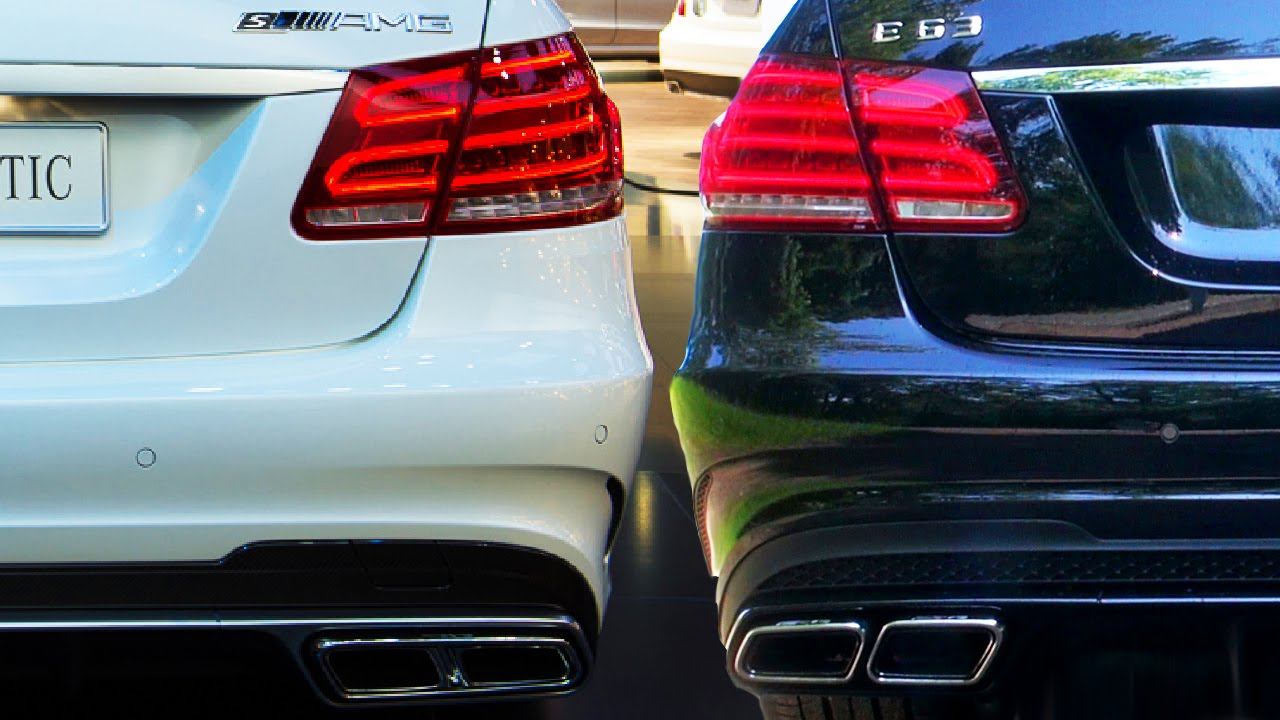 mercedes e63 amg s look 6.2l vs e63 amg 5.5l v8 biturbo sound