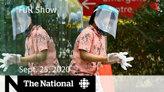 CBC News: The National | Canada hits 150,000 COVID-19 cases | Sept. 25, 2020