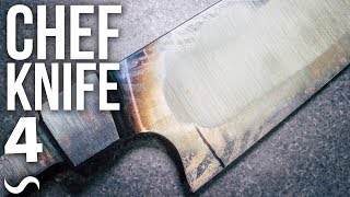 MAKING A CHEF'S KNIFE!!! PART 4 - uh oh...