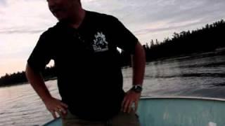 Boat hitting a rock in Canada