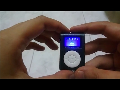 Unboxing miniclip mp3 player with display screen black