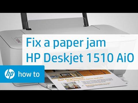 Fixing a Paper Jam - HP Deskjet 1510 All-in-One Printer