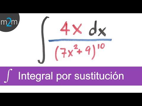 Integración por sustitución │ funciones con división