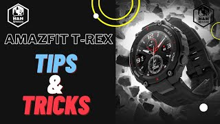 Amazfit T Rex -  customize watch faces - Tilt to wake ( lift wrist to view) - Select button options screenshot 5