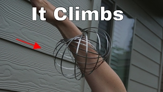Can Metal Rings Climb? Explaining the Geoflux