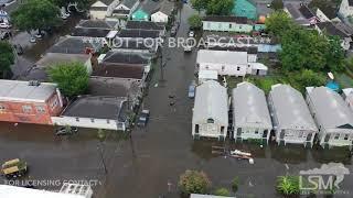 7-10-2019 New Orleans, La Extensive flooding, flash flood emergency, Tropical Depression drone