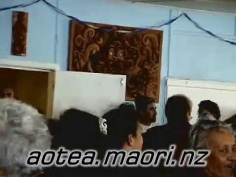 Poukai - In the Dining Room at Okapu Marae, Aotea, NZ