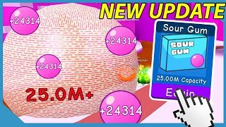 *New* 25,000,000 Sour Gum In Roblox Bubble Gum Simulator