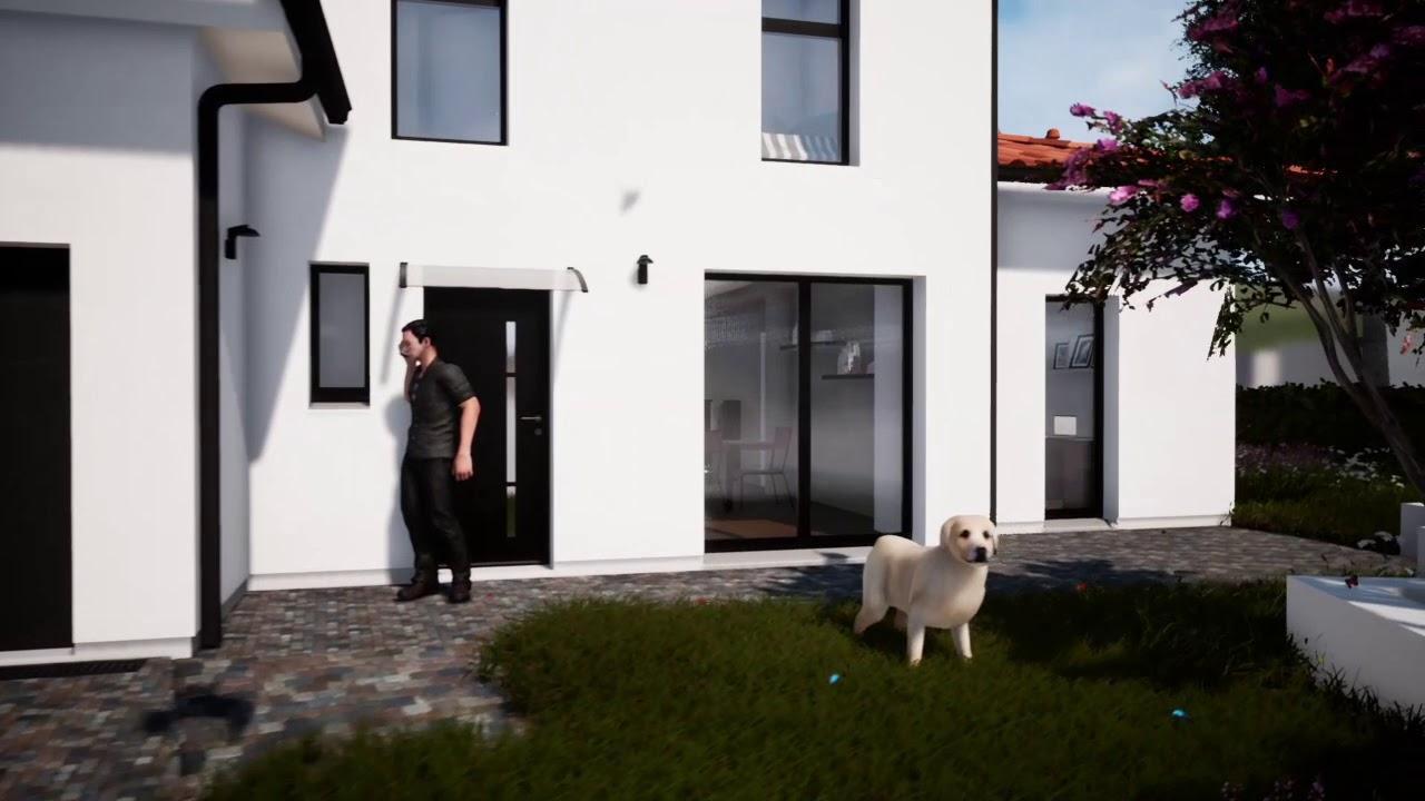 VILLA LEOGNAN 3D Maison Contemporaine Moderne étage Maitre d\'oeuvre Bordeaux