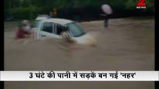 Chandigarh roads flood with monsoon water, 112 mm rains in 3 hours
