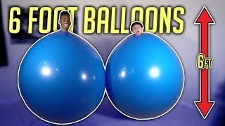 GIANT BALLOON CHALLENGE!! **hilarious, try not to laugh**